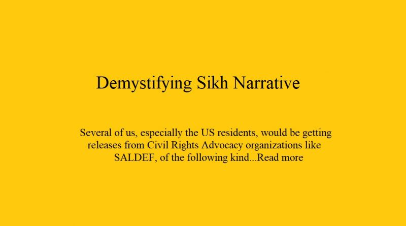 Demystifying Sikh Narrative