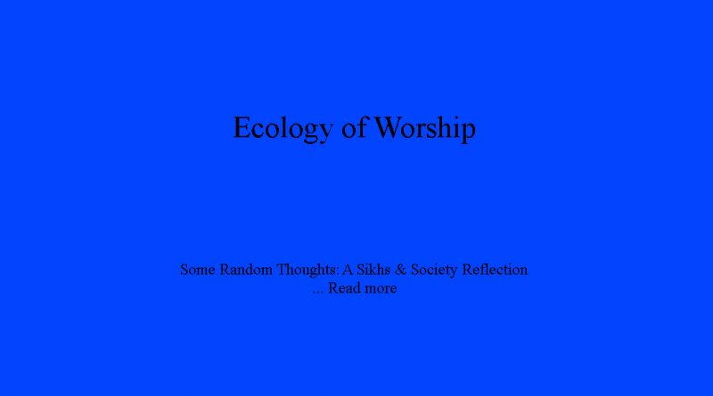 Ecology of Worship